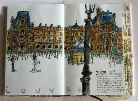 Louvre courtyard