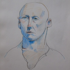 Portrait in blue