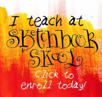 I teach at Sketchbook Skool