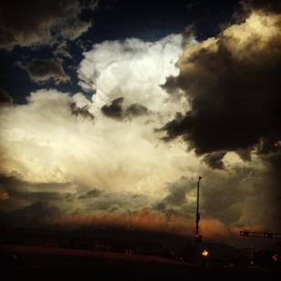 The sky over Albuquerque.