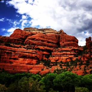 The view from our hotel in Sedona, AZ.