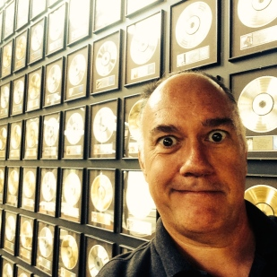 Golden records at the Country Music Hall o' Fame.