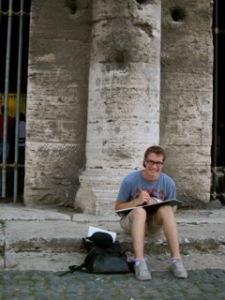 Jack draws in rome
