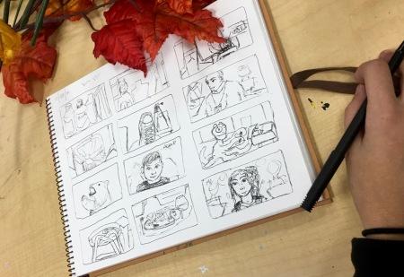 Drawing at UNIS
