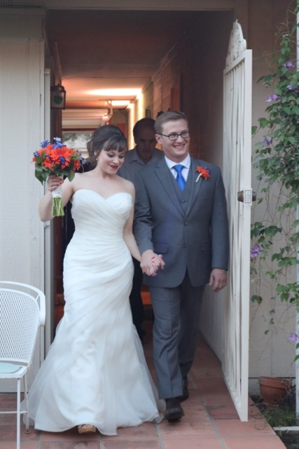 My nephew, James and his bride, Melanie.